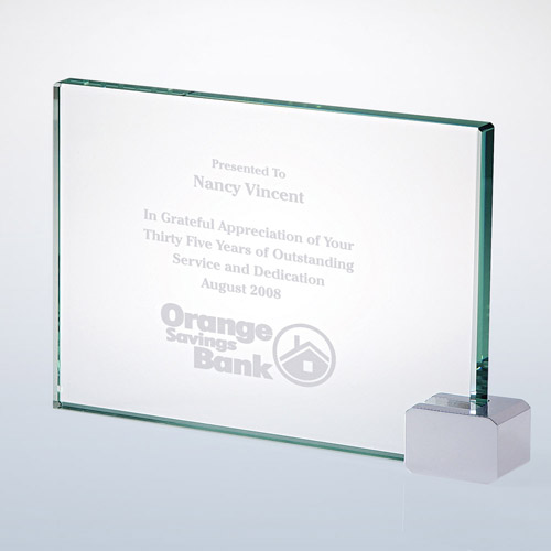 Achievement Award -Rectangular Holder Chrome Large