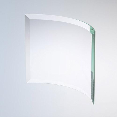 Bevelled Curved Rectangle Medium Jade