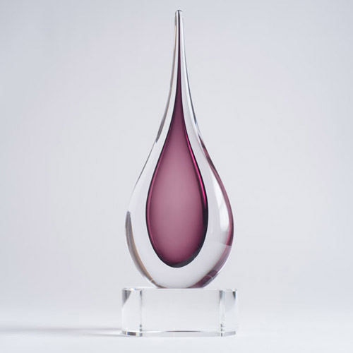 Amethyst Teardrop on base large