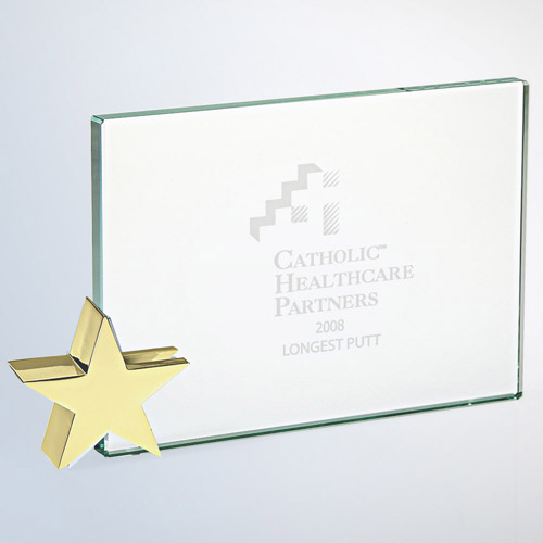 Achievement Award -Star Holder Brass Large