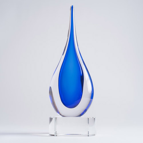 Blue Teardrop on base small